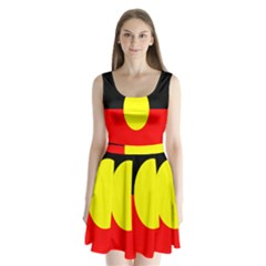 Flag Of Australian Aborigines Split Back Mini Dress