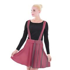 Lines Suspender Skater Skirt