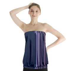Lines Strapless Top