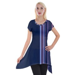 Lines Short Sleeve Side Drop Tunic
