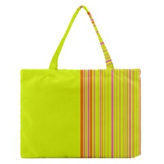 Lines Medium Zipper Tote Bag