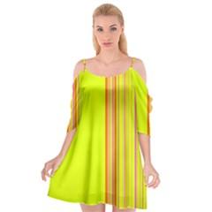 Lines Cutout Spaghetti Strap Chiffon Dress