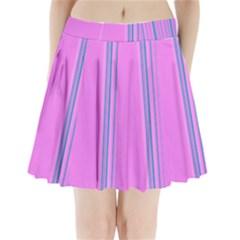 Lines Pleated Mini Skirt