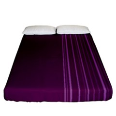 Lines Fitted Sheet (california King Size)