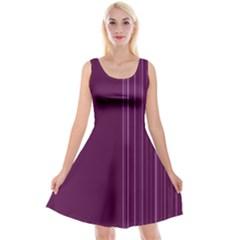 Lines Reversible Velvet Sleeveless Dress
