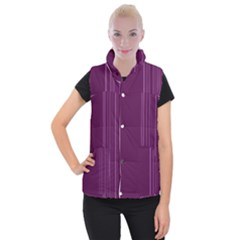 Lines Women s Button Up Puffer Vest