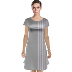 Lines Cap Sleeve Nightdress