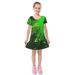 Big Bang Kids  Short Sleeve Velvet Dress