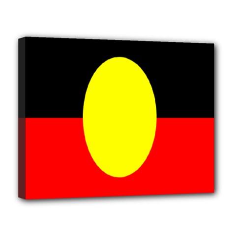 Flag Of Australian Aborigines Canvas 14  x 11