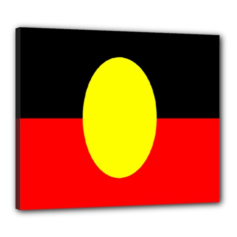 Flag Of Australian Aborigines Canvas 24  X 20