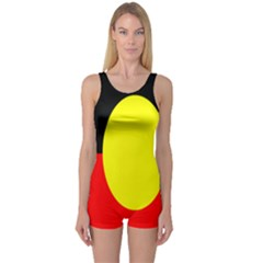 Flag Of Australian Aborigines One Piece Boyleg Swimsuit