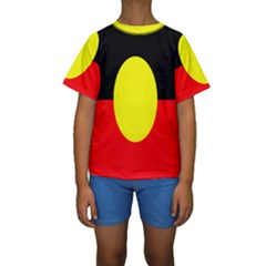 Flag Of Australian Aborigines Kids  Short Sleeve Swimwear