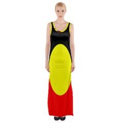 Flag Of Australian Aborigines Maxi Thigh Split Dress