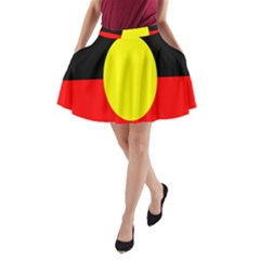 Flag Of Australian Aborigines A Line Pocket Skirt