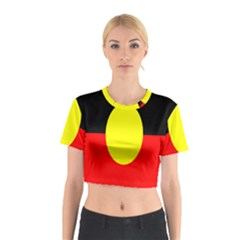 Flag Of Australian Aborigines Cotton Crop Top