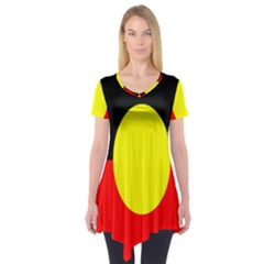 Flag Of Australian Aborigines Short Sleeve Tunic