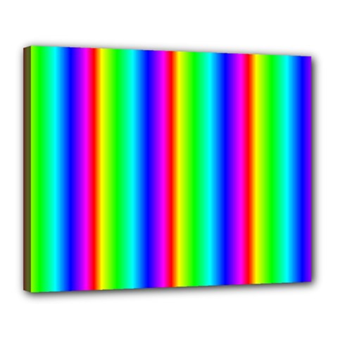 Rainbow Gradient Canvas 20  X 16