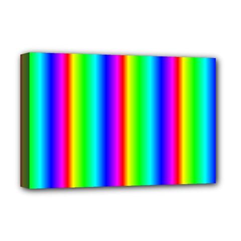 Rainbow Gradient Deluxe Canvas 18  x 12