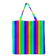 Rainbow Gradient Grocery Tote Bag