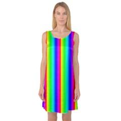 Rainbow Gradient Sleeveless Satin Nightdress