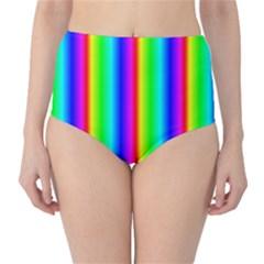 Rainbow Gradient High Waist Bikini Bottoms