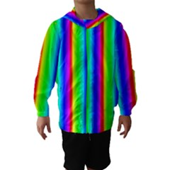 Rainbow Gradient Hooded Wind Breaker (Kids)