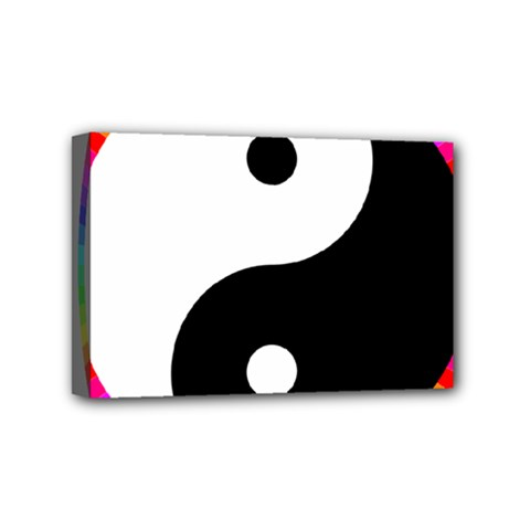 Rainbow Around Yinyang Mini Canvas 6  x 4