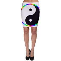 Rainbow Around Yinyang Bodycon Skirt