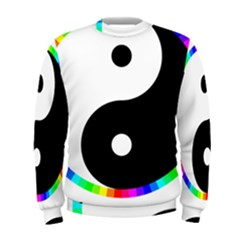 Rainbow Around Yinyang Men s Sweatshirt