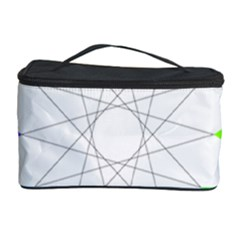 Rainbow Dodecagon And Black Dodecagram Cosmetic Storage Case