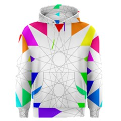 Rainbow Dodecagon And Black Dodecagram Men s Pullover Hoodie