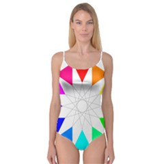 Rainbow Dodecagon And Black Dodecagram Camisole Leotard