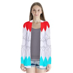 Rainbow Dodecagon And Black Dodecagram Cardigans