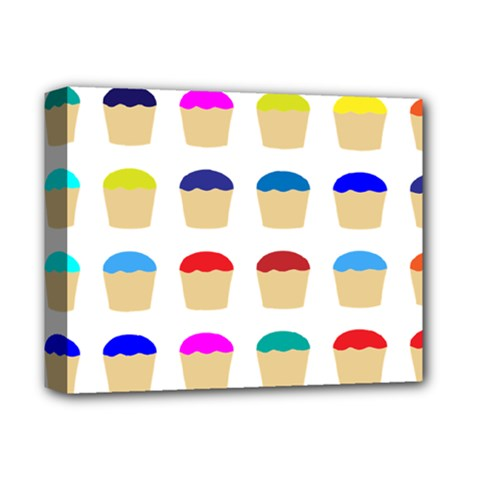 Colorful Cupcakes Pattern Deluxe Canvas 14  X 11