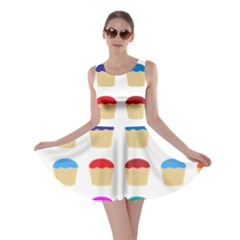 Colorful Cupcakes Pattern Skater Dress