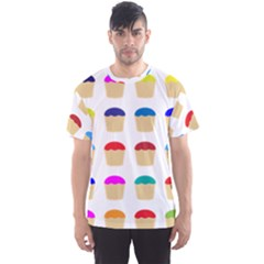 Colorful Cupcakes Pattern Men s Sport Mesh Tee