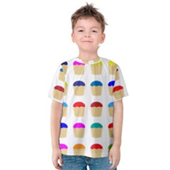 Colorful Cupcakes Pattern Kids  Cotton Tee