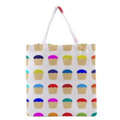 Colorful Cupcakes Pattern Grocery Tote Bag