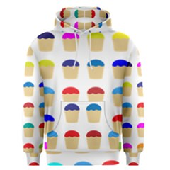 Colorful Cupcakes Pattern Men s Pullover Hoodie