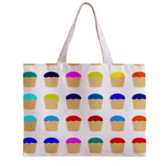 Colorful Cupcakes Pattern Zipper Mini Tote Bag