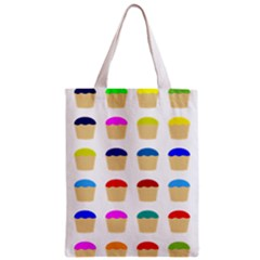 Colorful Cupcakes Pattern Zipper Classic Tote Bag