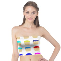 Colorful Cupcakes Pattern Tube Top