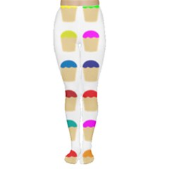 Colorful Cupcakes Pattern Women s Tights