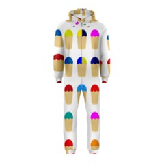 Colorful Cupcakes Pattern Hooded Jumpsuit (kids)