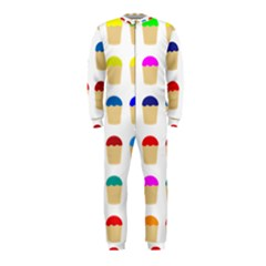 Colorful Cupcakes Pattern Onepiece Jumpsuit (kids)