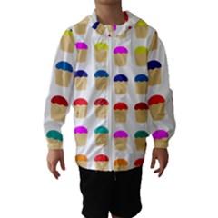 Colorful Cupcakes Pattern Hooded Wind Breaker (kids)
