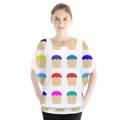 Colorful Cupcakes Pattern Blouse