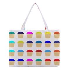 Colorful Cupcakes Pattern Medium Tote Bag