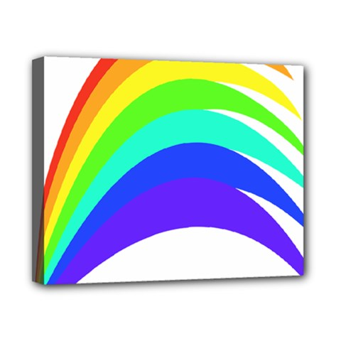 Rainbow Canvas 10  x 8