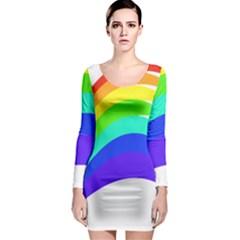 Rainbow Long Sleeve Bodycon Dress
